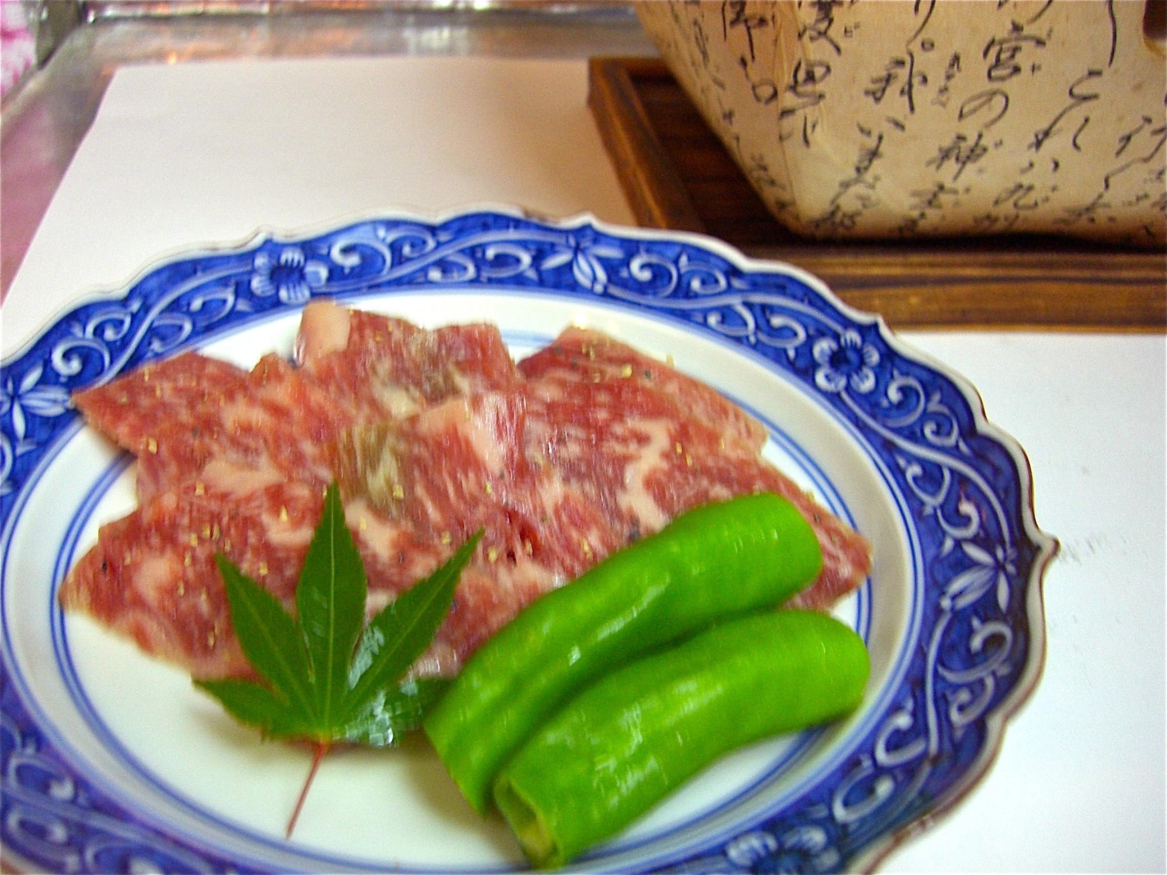 和牛ロース炭火焼(人気メニュー)(牛ロース料理1)