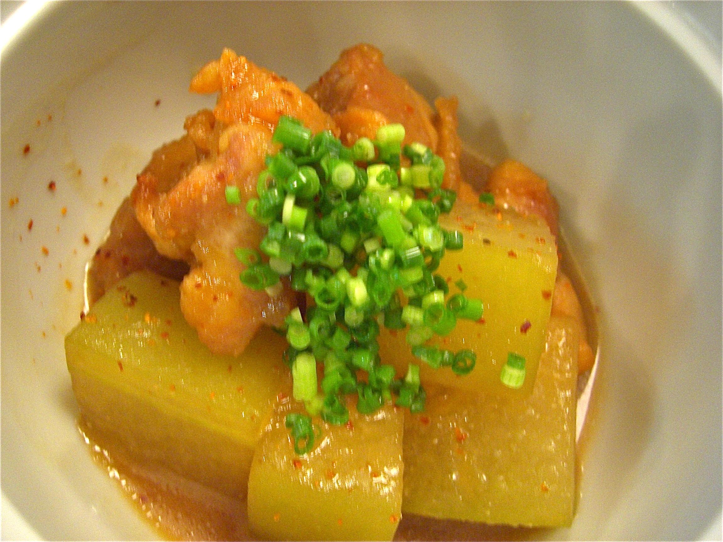 冬瓜と地鶏の味噌煮(地鶏料理5、冬瓜(とうがん)料理1)