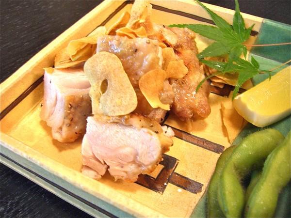 地鶏の塩ガーッリク焼き