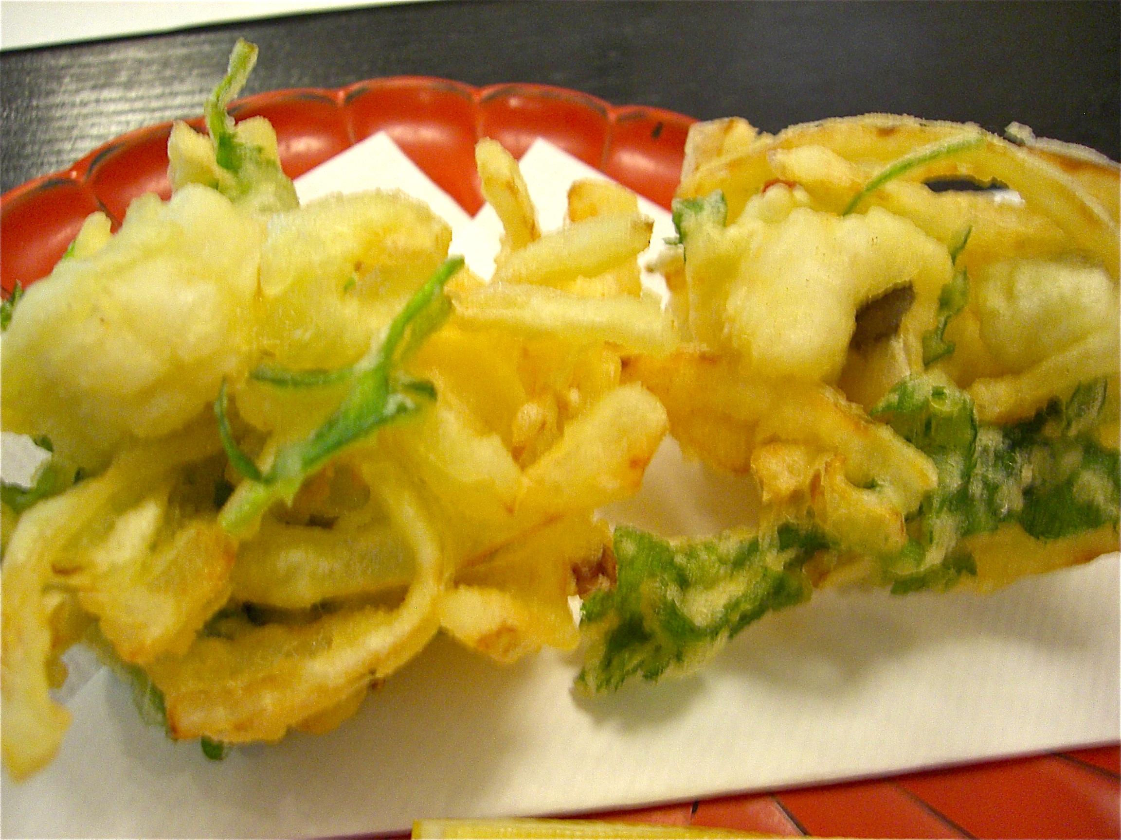 鱧と玉葱のかき揚げ(鱧料理6)