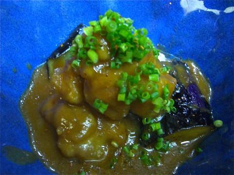 煮物(茄子と地鶏の味噌煮)