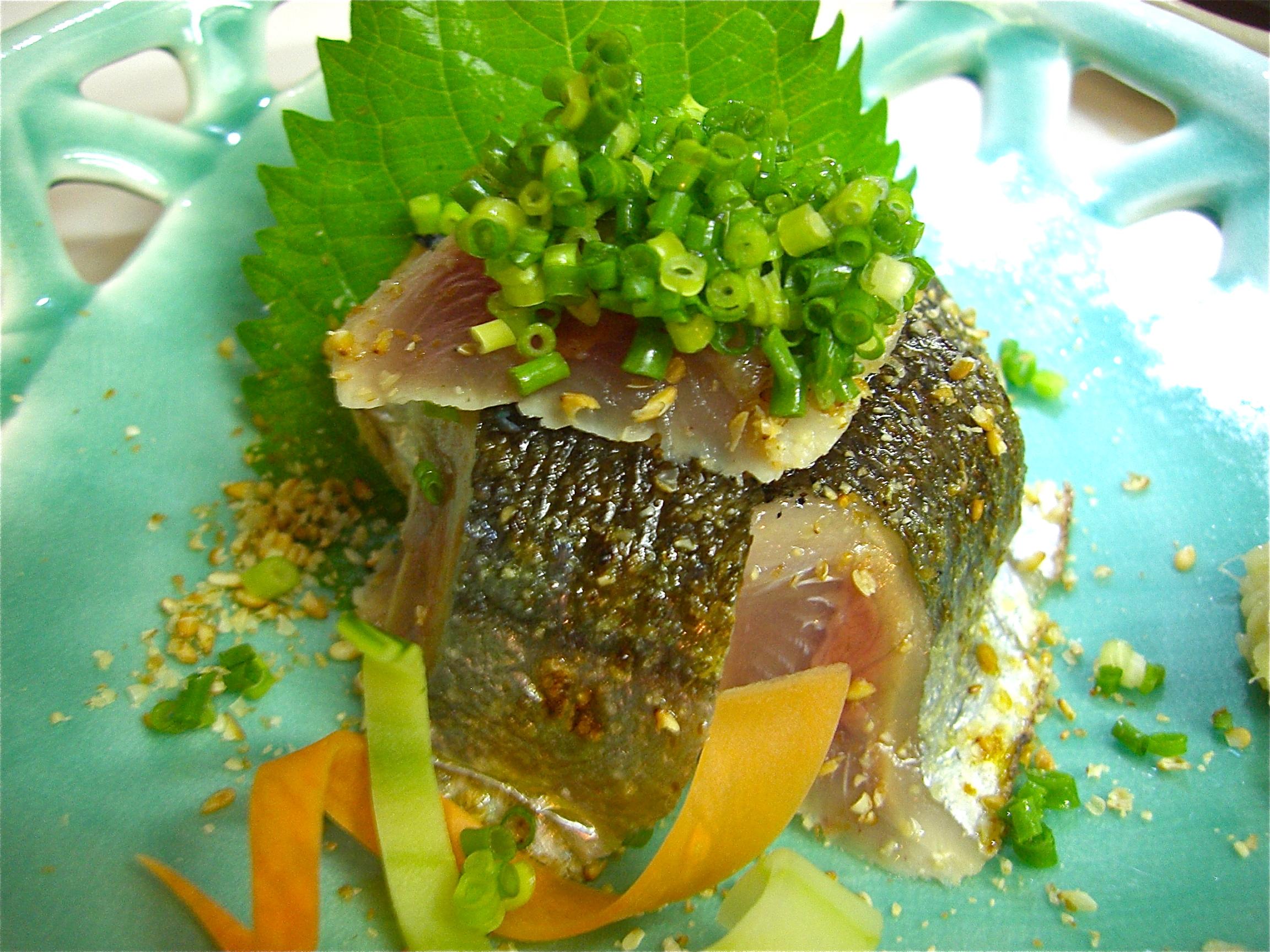 秋刀魚(さんま)の焼き霜造り(秋刀魚料理2)