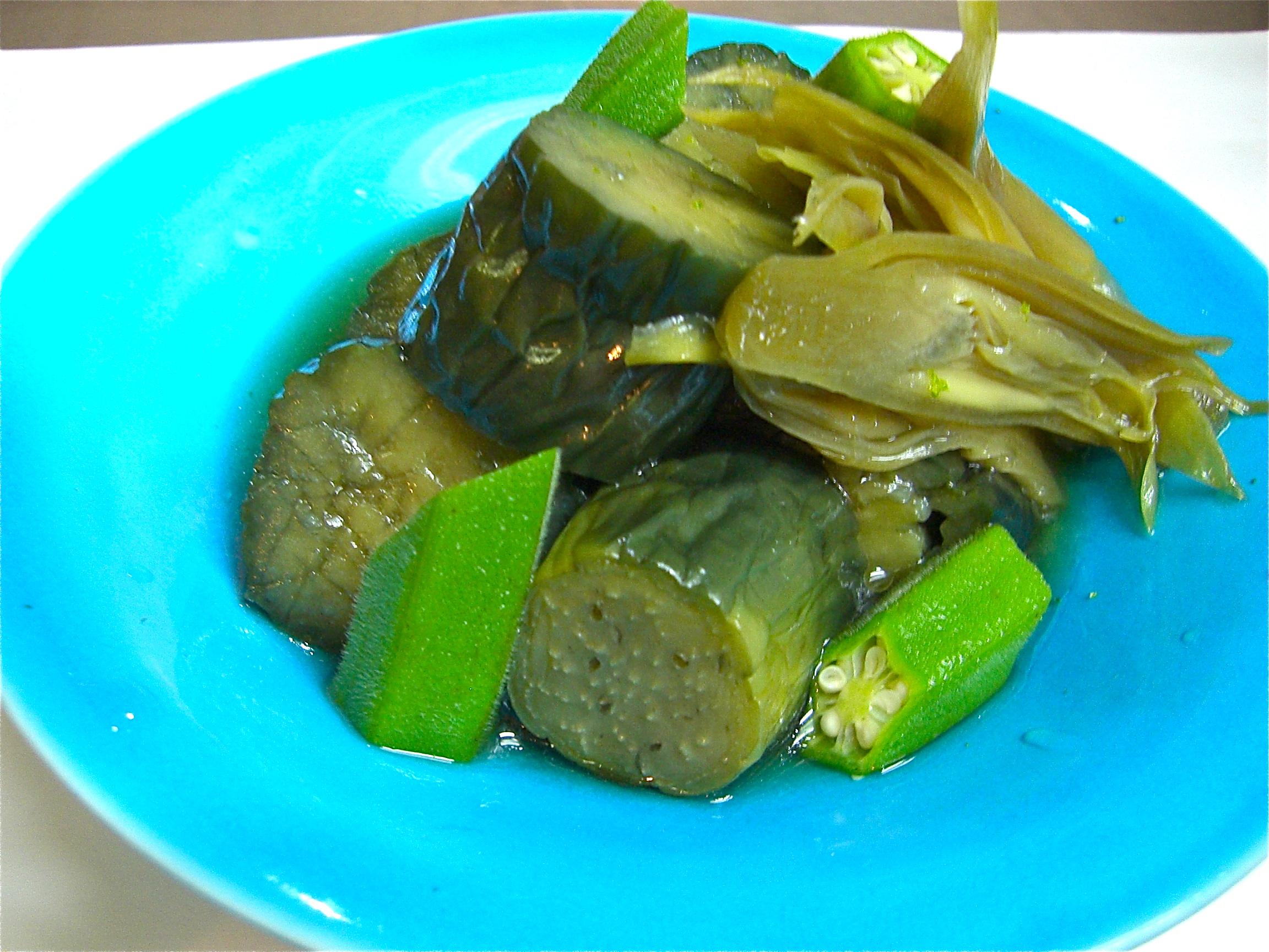 茄子と茗荷煮(冷)(茄子料理2)