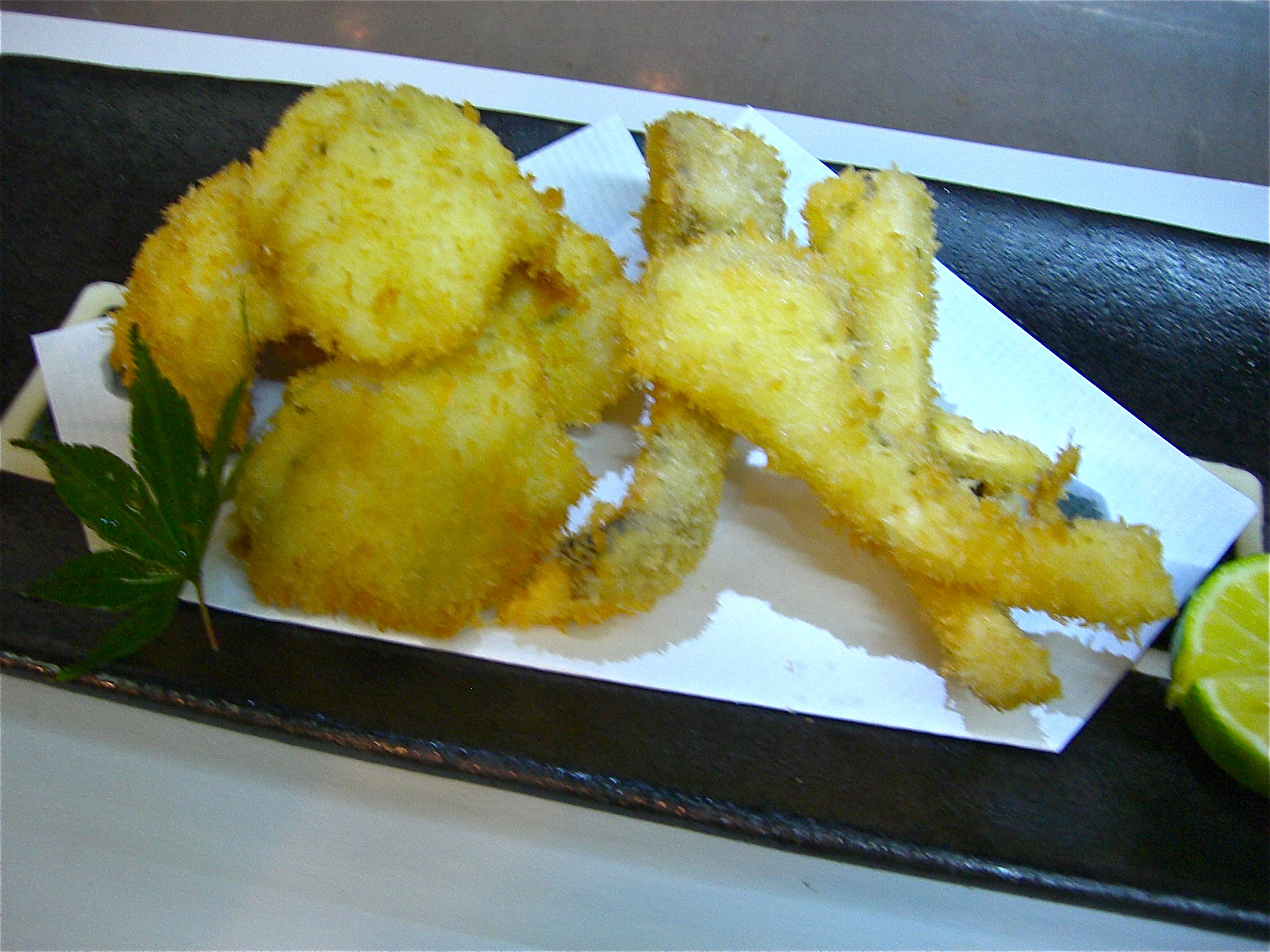 松茸と鱧のフライ(天ぷら)(松茸料理6)