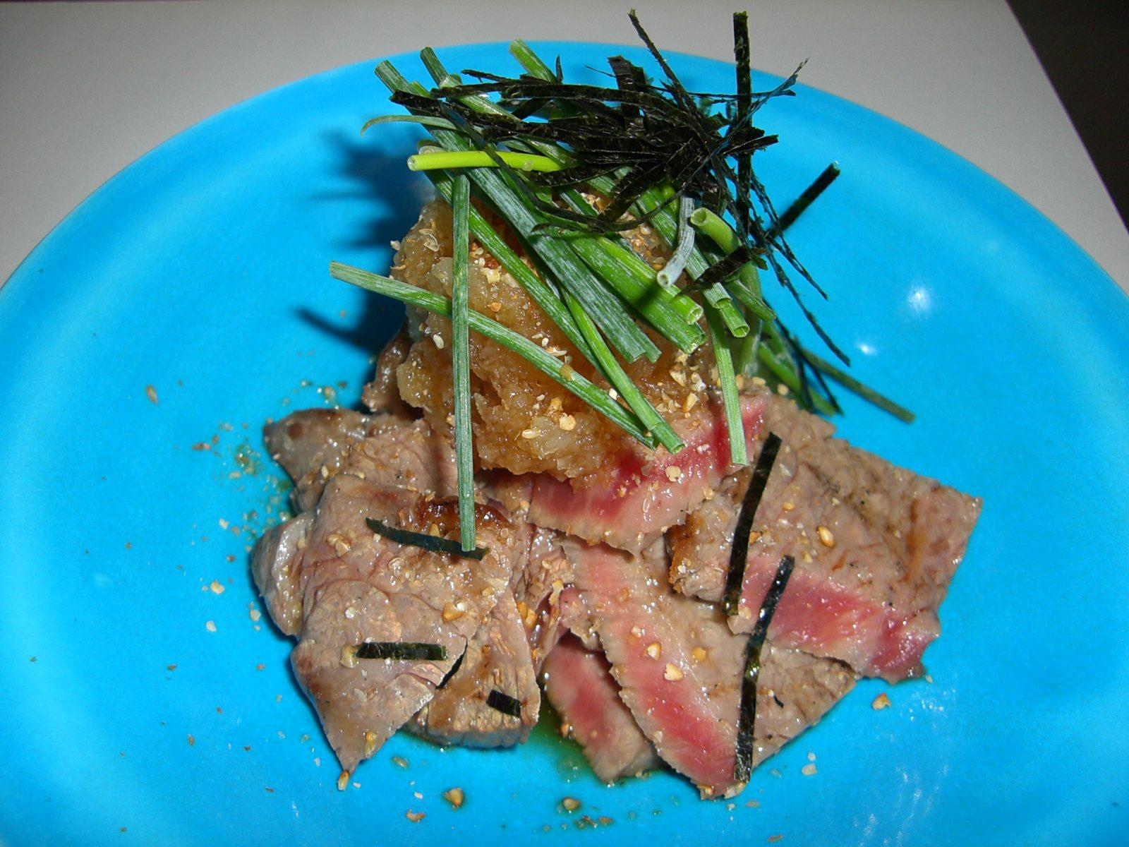 あぶり牛ロースおろしポン酢(牛ロース料理4)