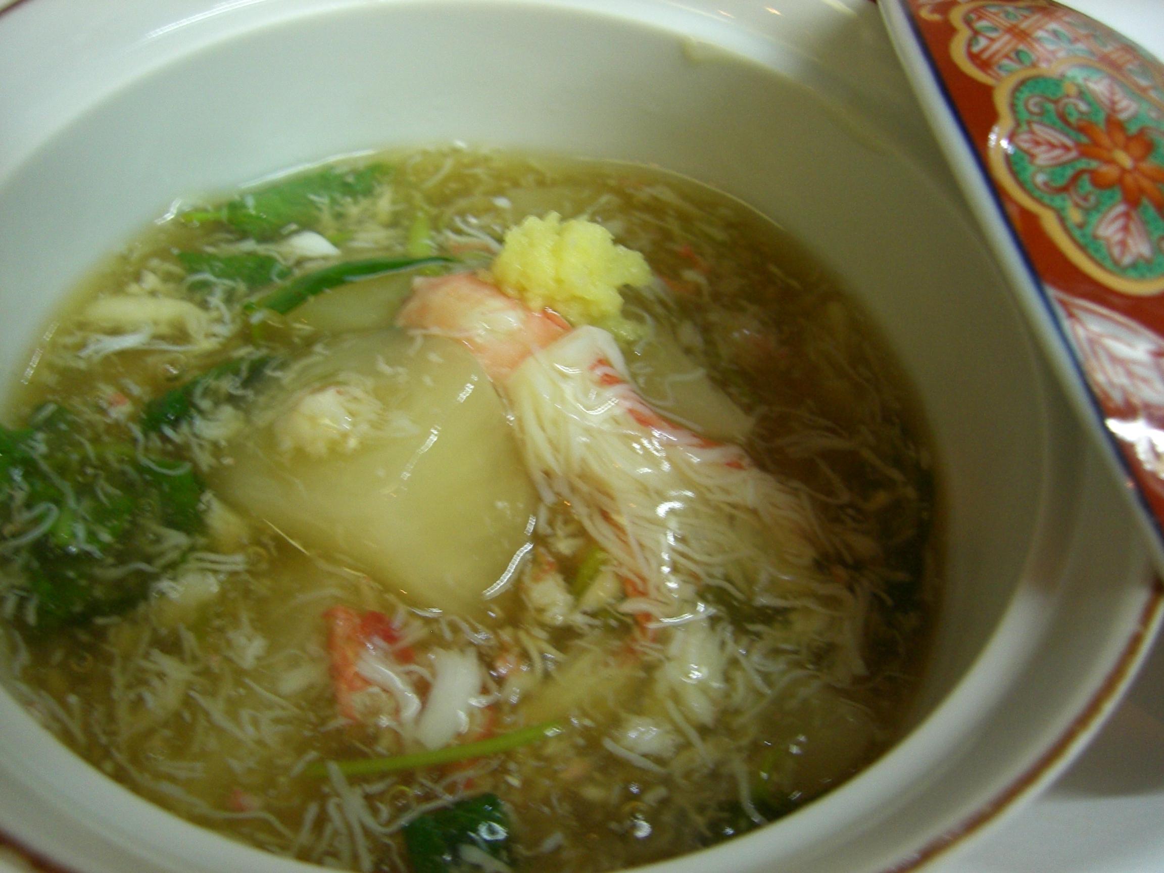 かぶらのカニ身あんかけ(かぶら料理1)(カニ料理2)