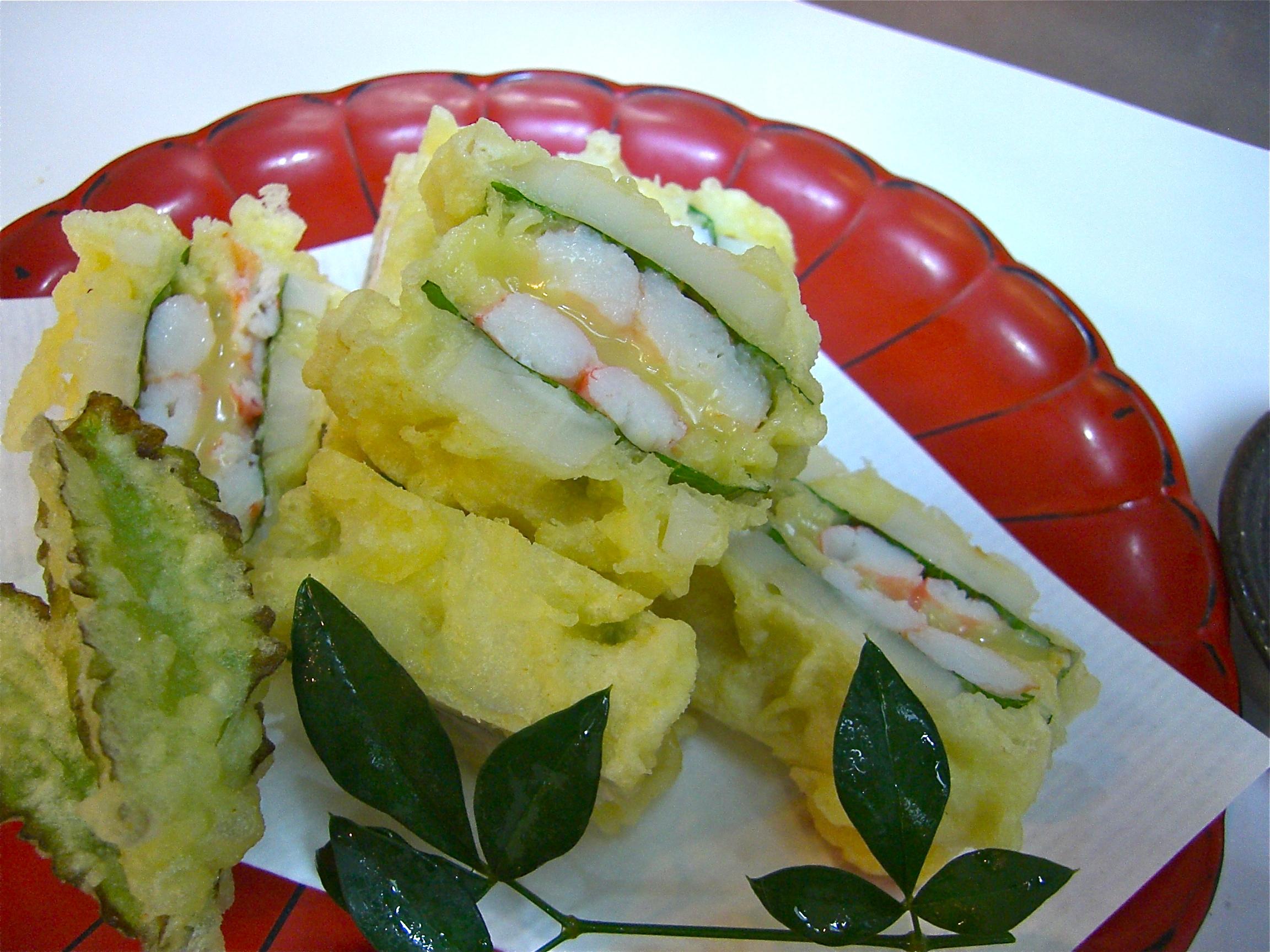 蓮根 カニ身チーズはさみ揚げ(カニ料理3)(蓮根料理1)