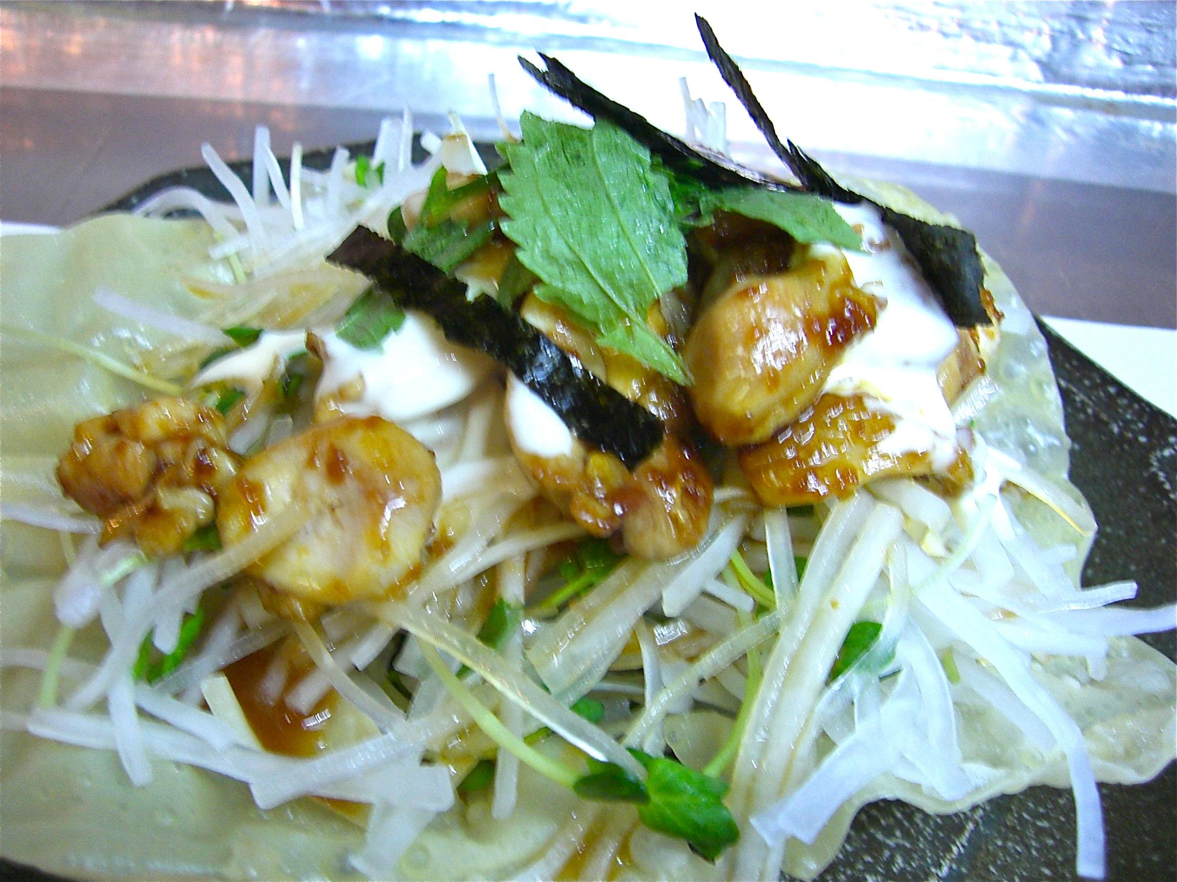 地鶏生姜焼き大根サラダ