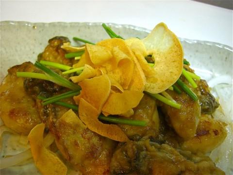 牡蠣ガーリックしょう油焼き