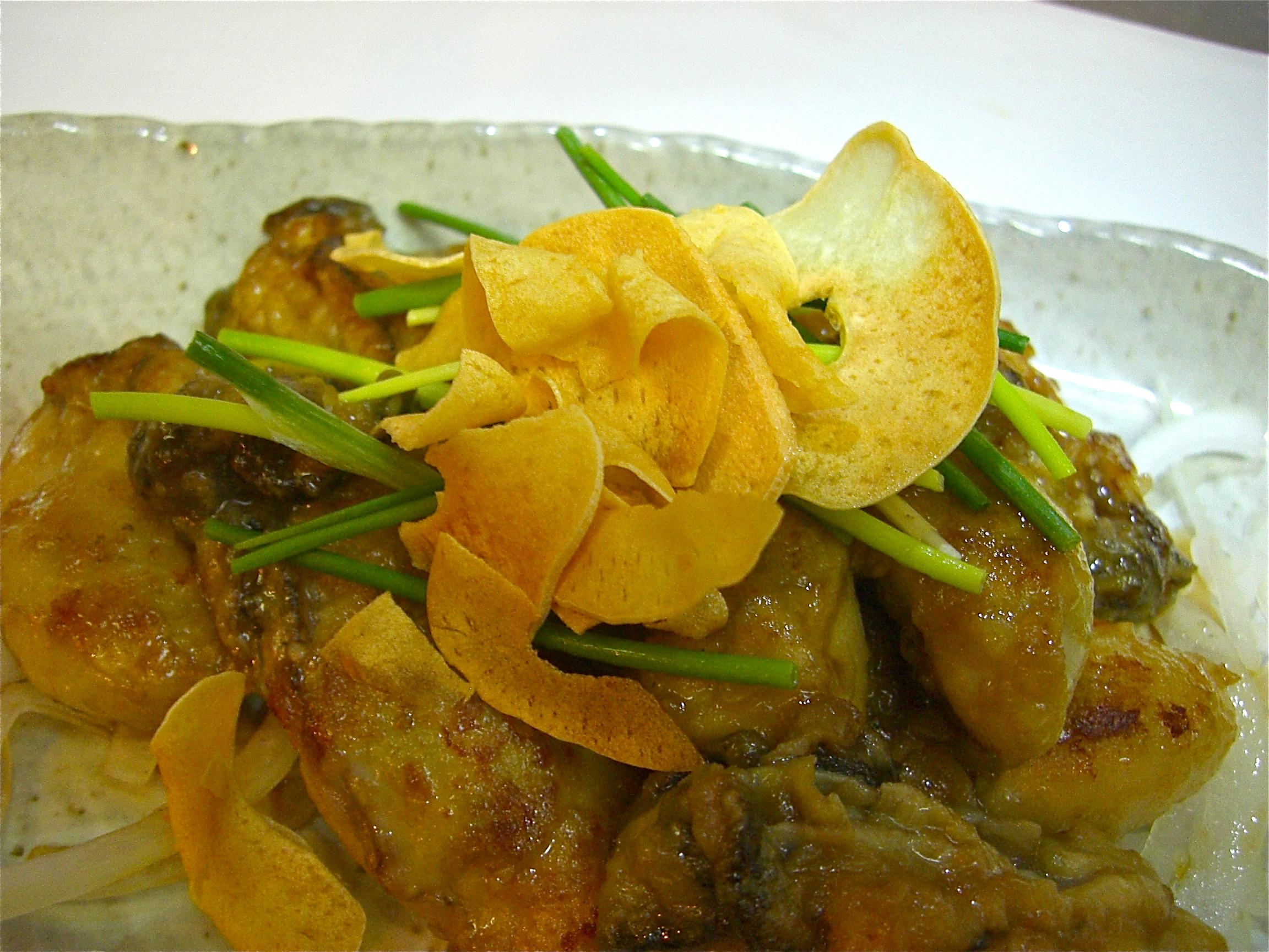 かきガーリックしょう油焼き(かき料理4)