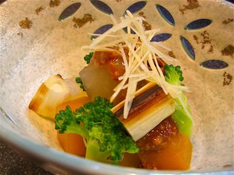大根 南瓜 ブロッコリー 鶏味噌がけ
