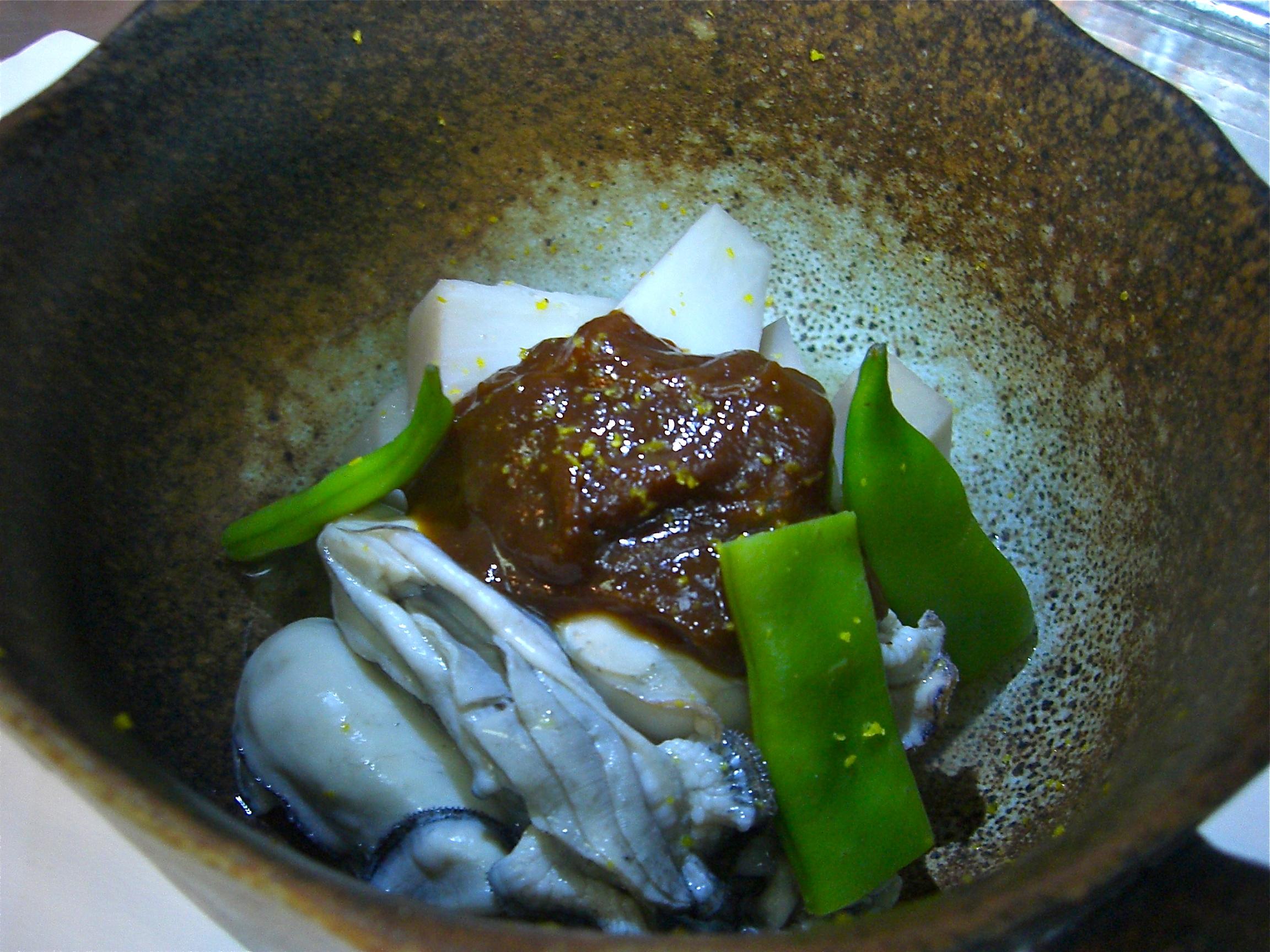 海老芋とかき煮(味噌掛け)(かき料理2)(海老芋料理1)