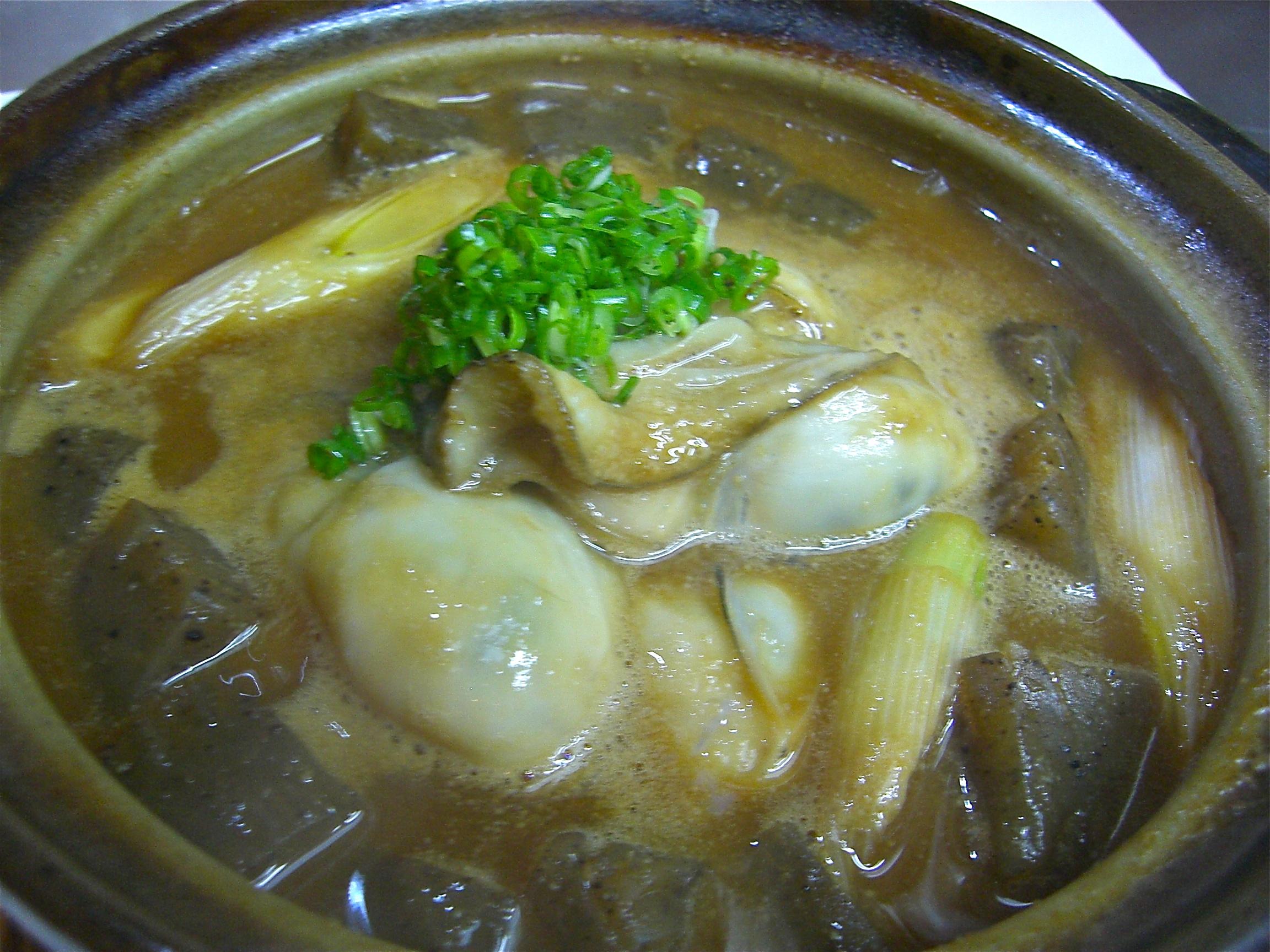 かき土手鍋(かき料理1)