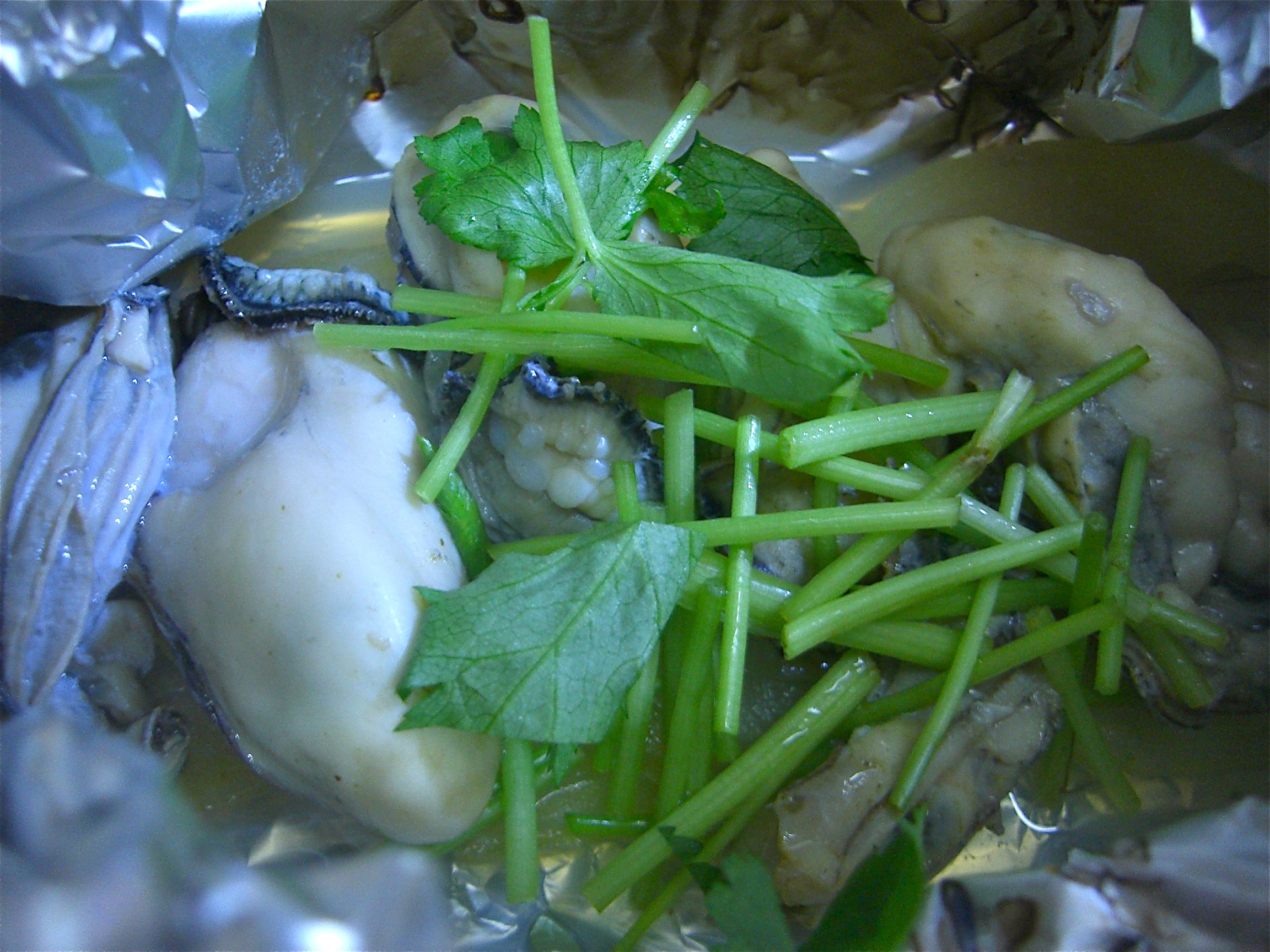 かきと玉葱のホイル焼き(かき料理7)