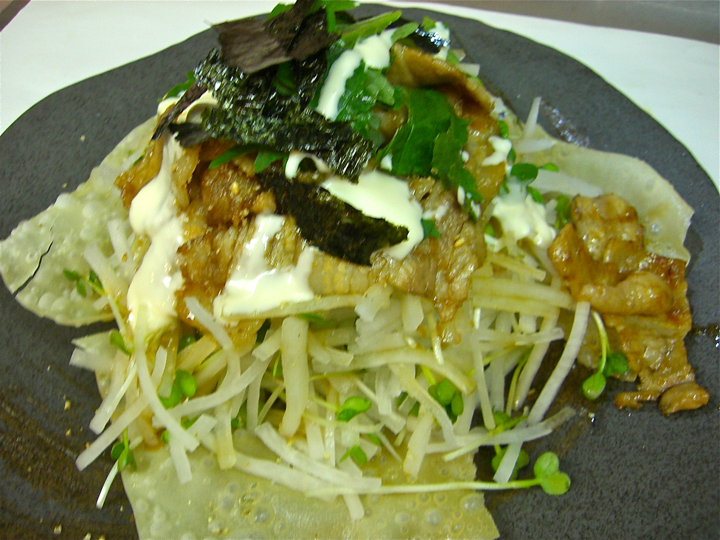 大根パリパリ豚バラ生姜焼きサラダ(豚バラ料理1)