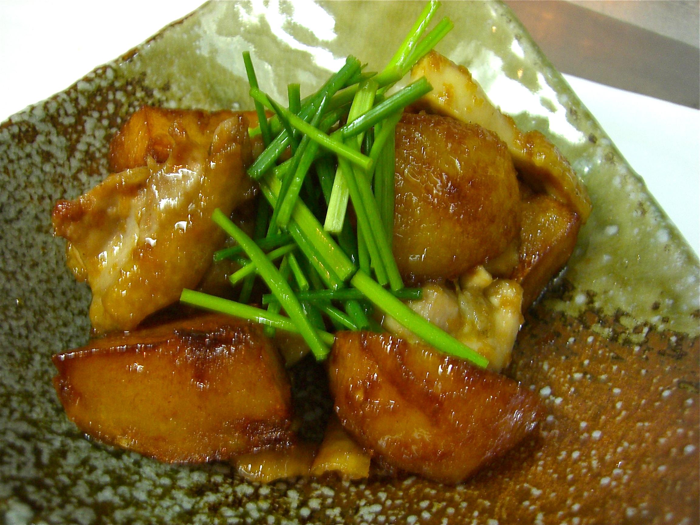 地鶏 だんしゃく芋生姜焼き