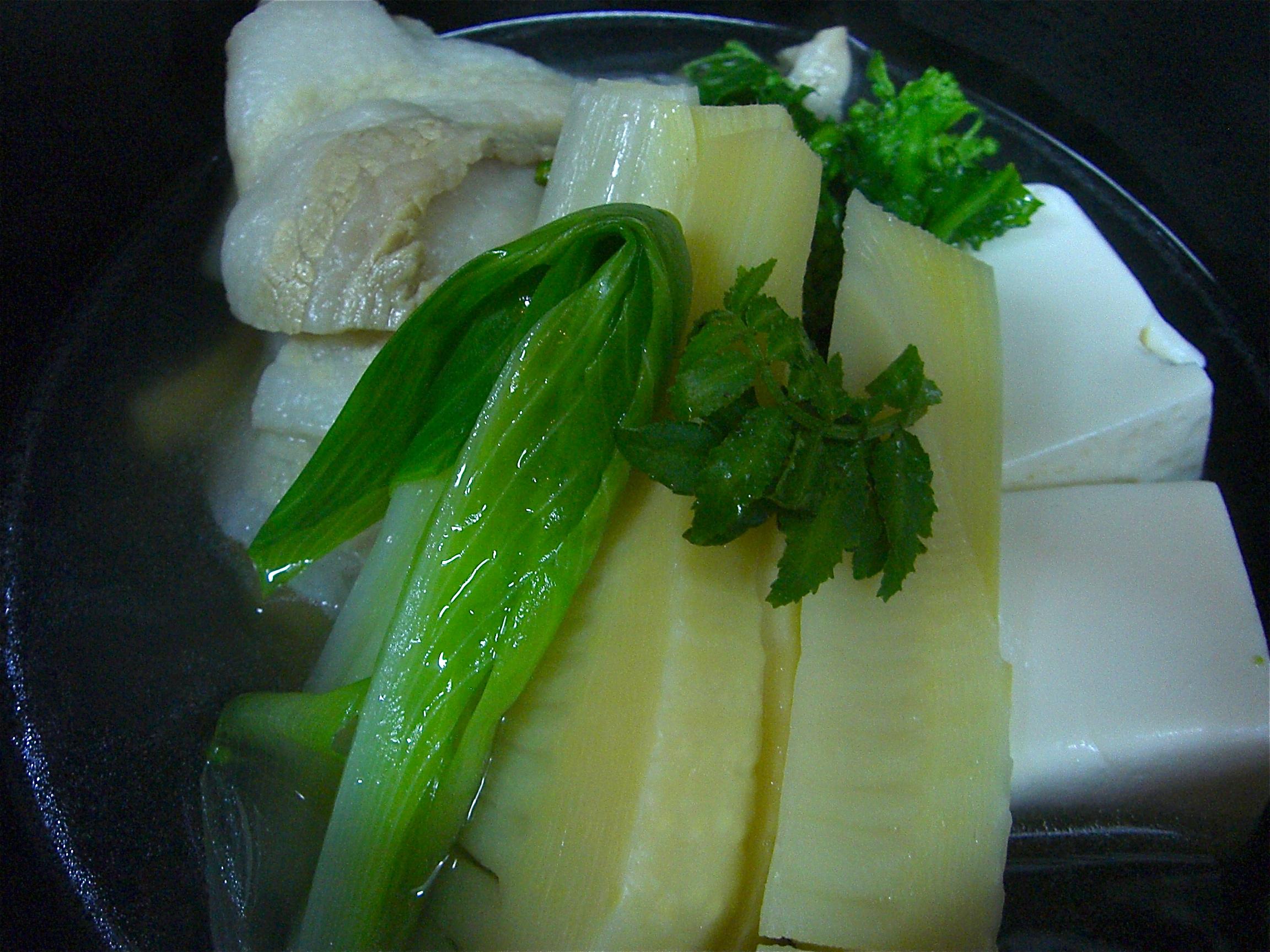 春野菜と豚バラ酒蒸し