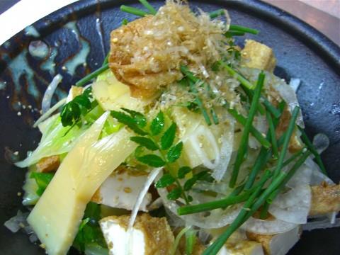 春キャベツ 竹の子 厚揚げサラダ