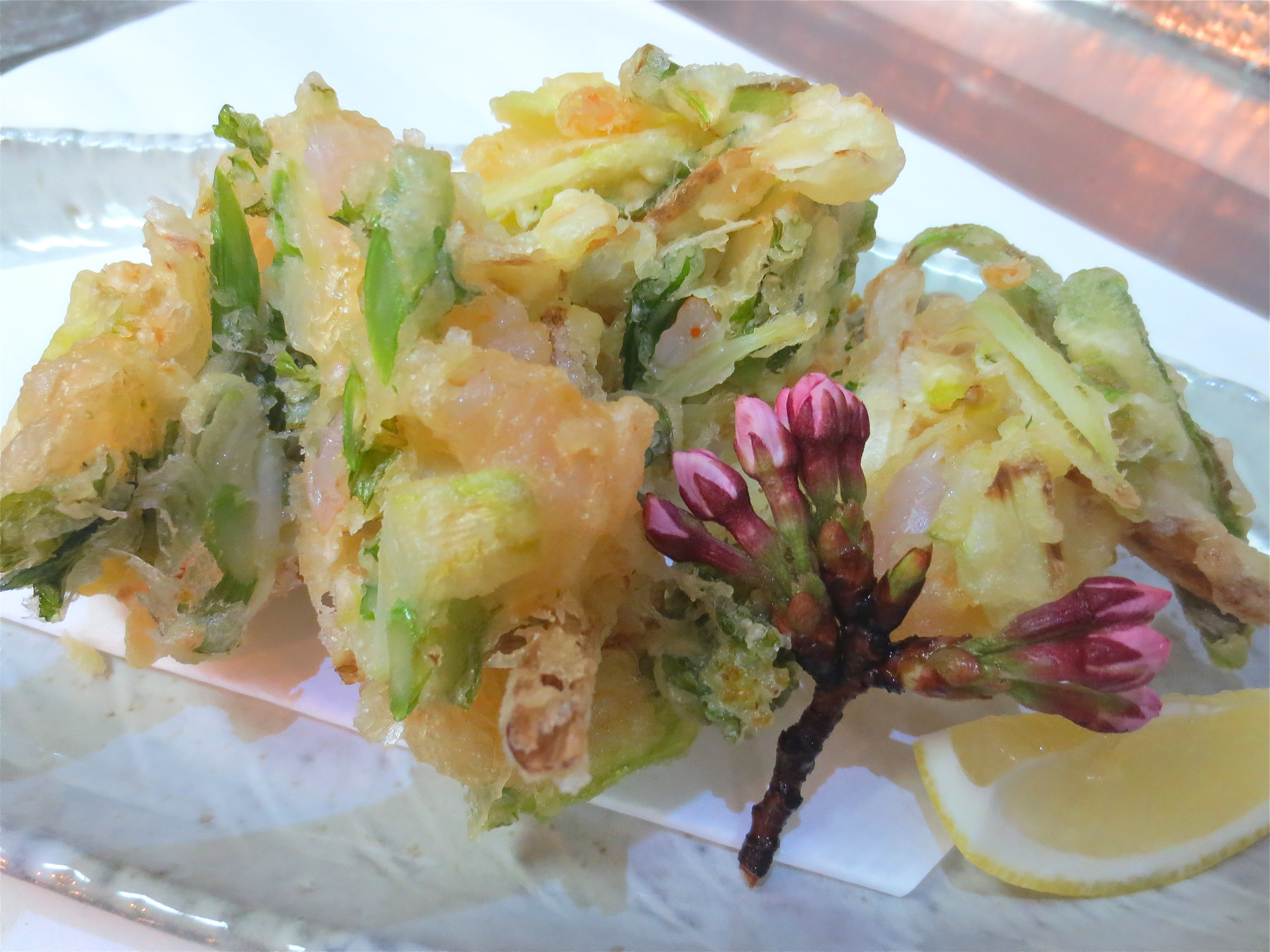 春野菜と海老のかき揚げ