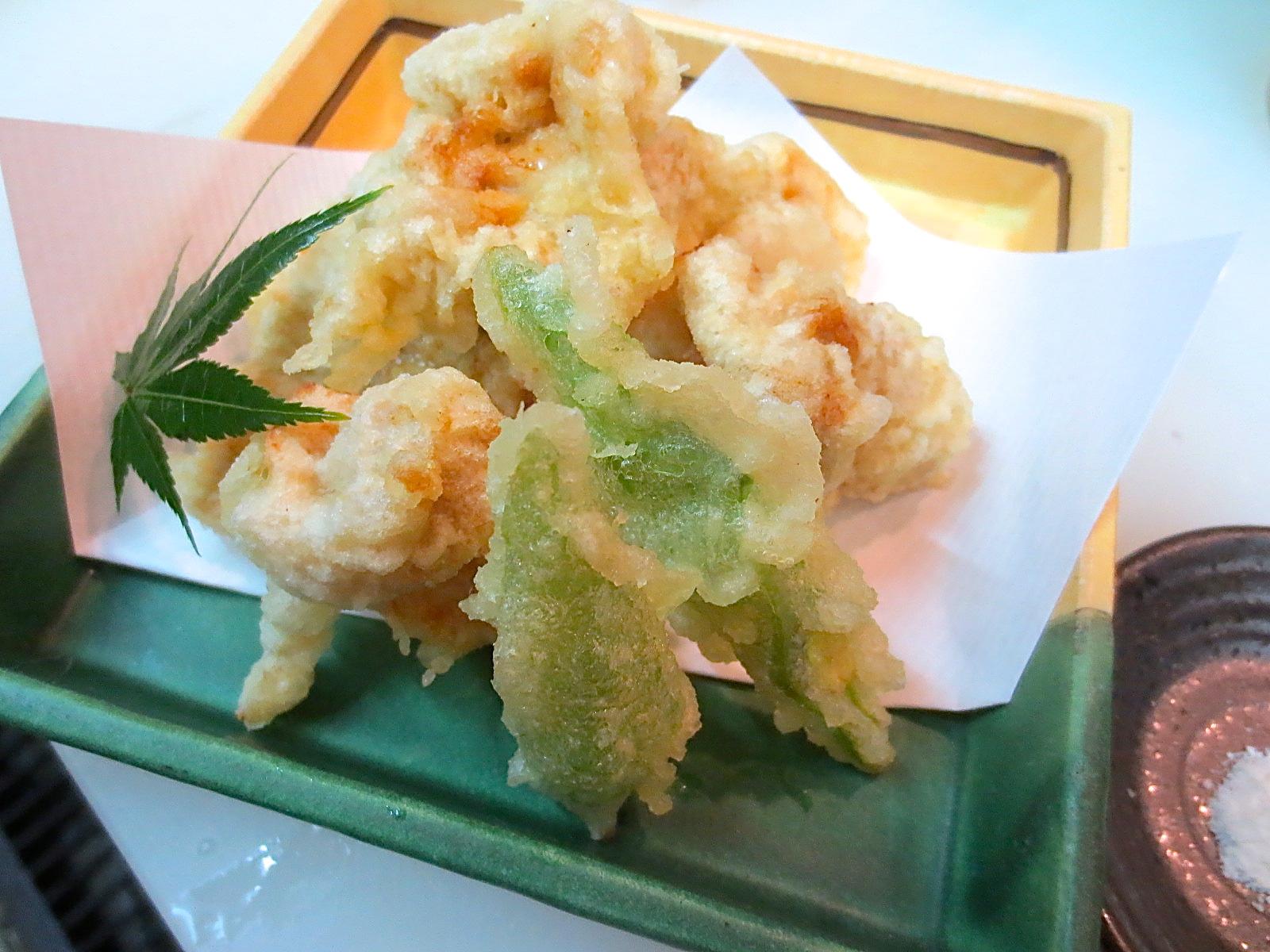 地とりの天ぷら(醤油味)