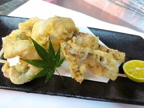 松茸と鱧の天ぷら