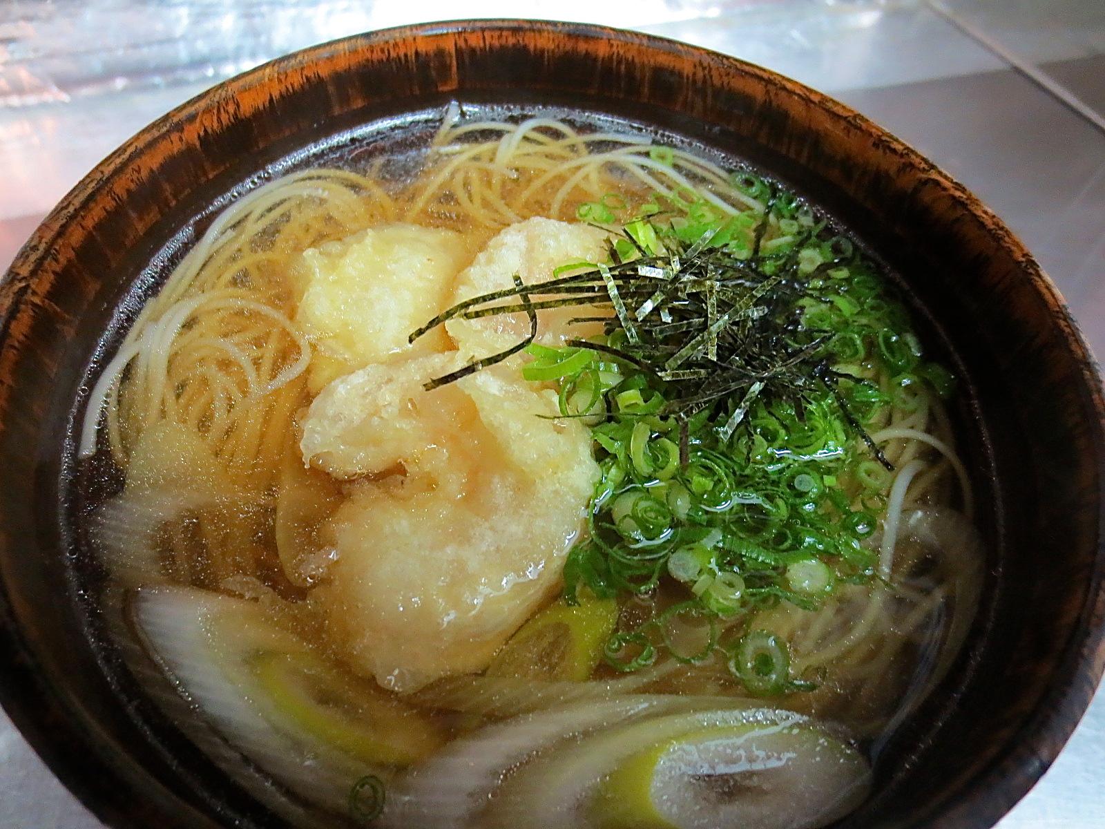 小エビ天ぷら入り煮麺