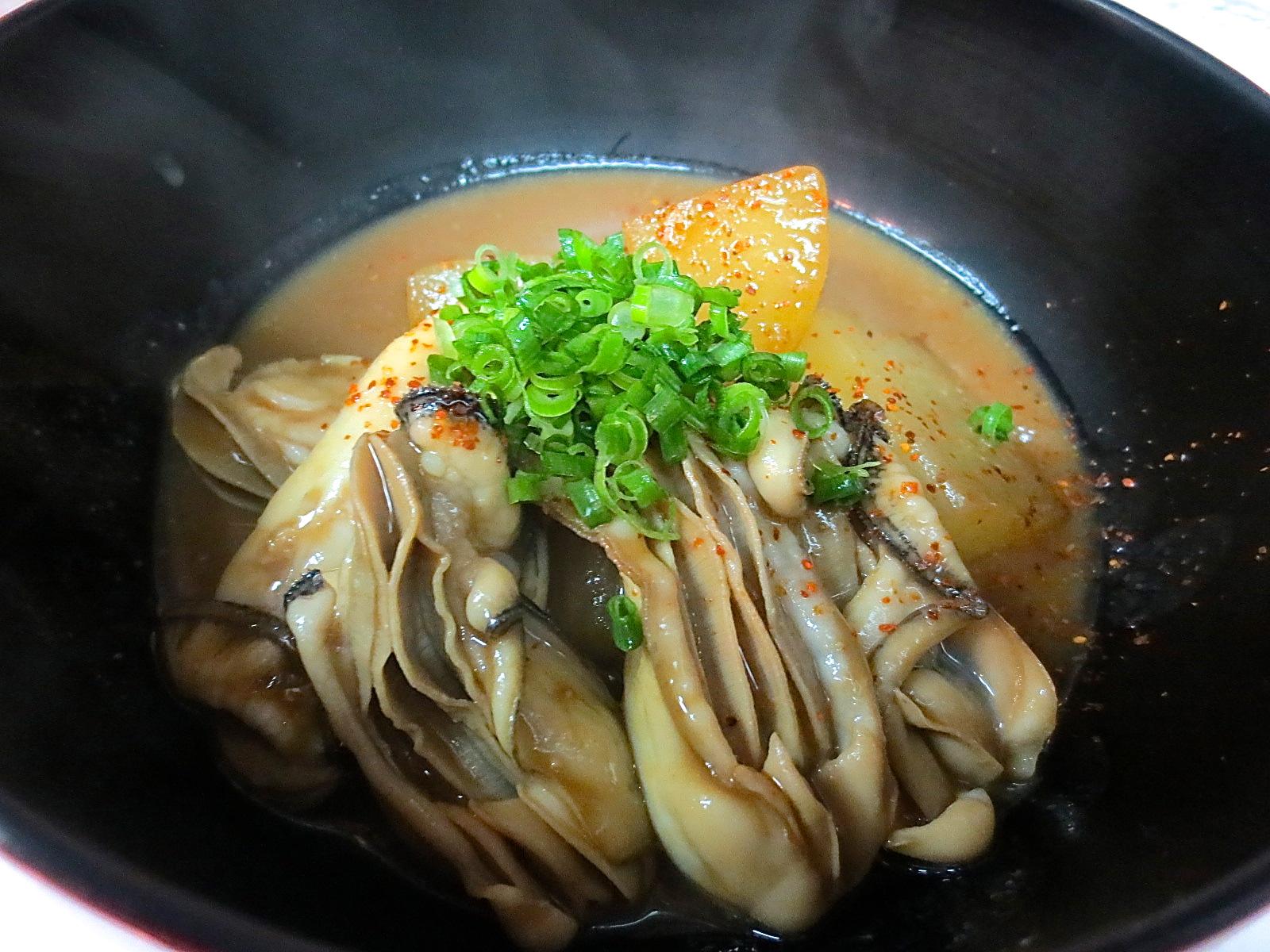 かきと大根味噌煮