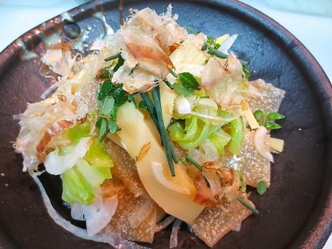 竹の子 春キャベツ 子持ちこんにゃくサラダ