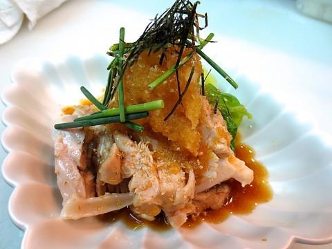蒸し鶏と春キャベツのおろしポン酢