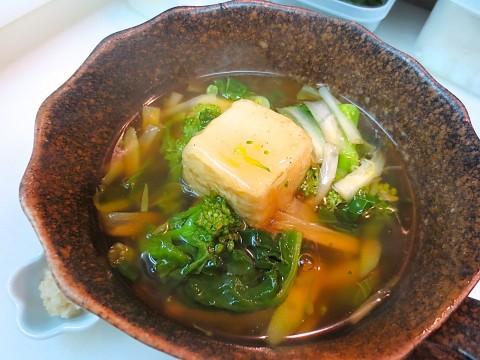 揚げ豆腐春野菜あんかけ