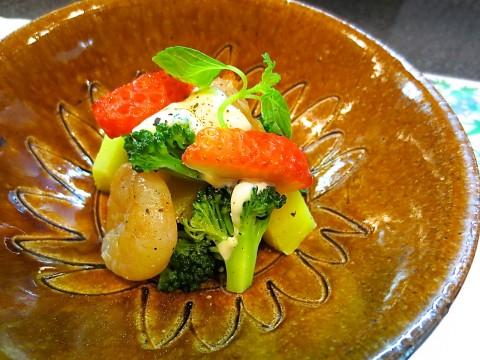 ブロッコリー さつま芋 海老和え物