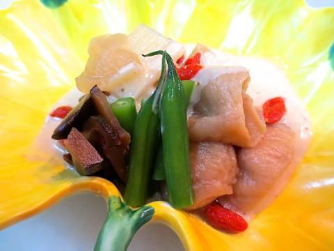 かんぴょう 丁字麩 三度豆和え物