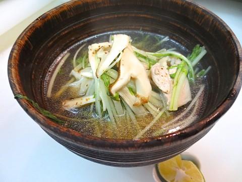 松茸 水菜 地鳥あっさり煮