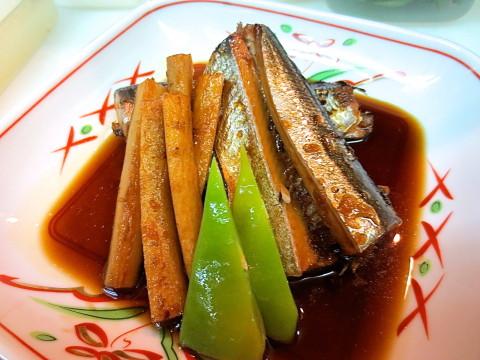 秋刀魚煮付け