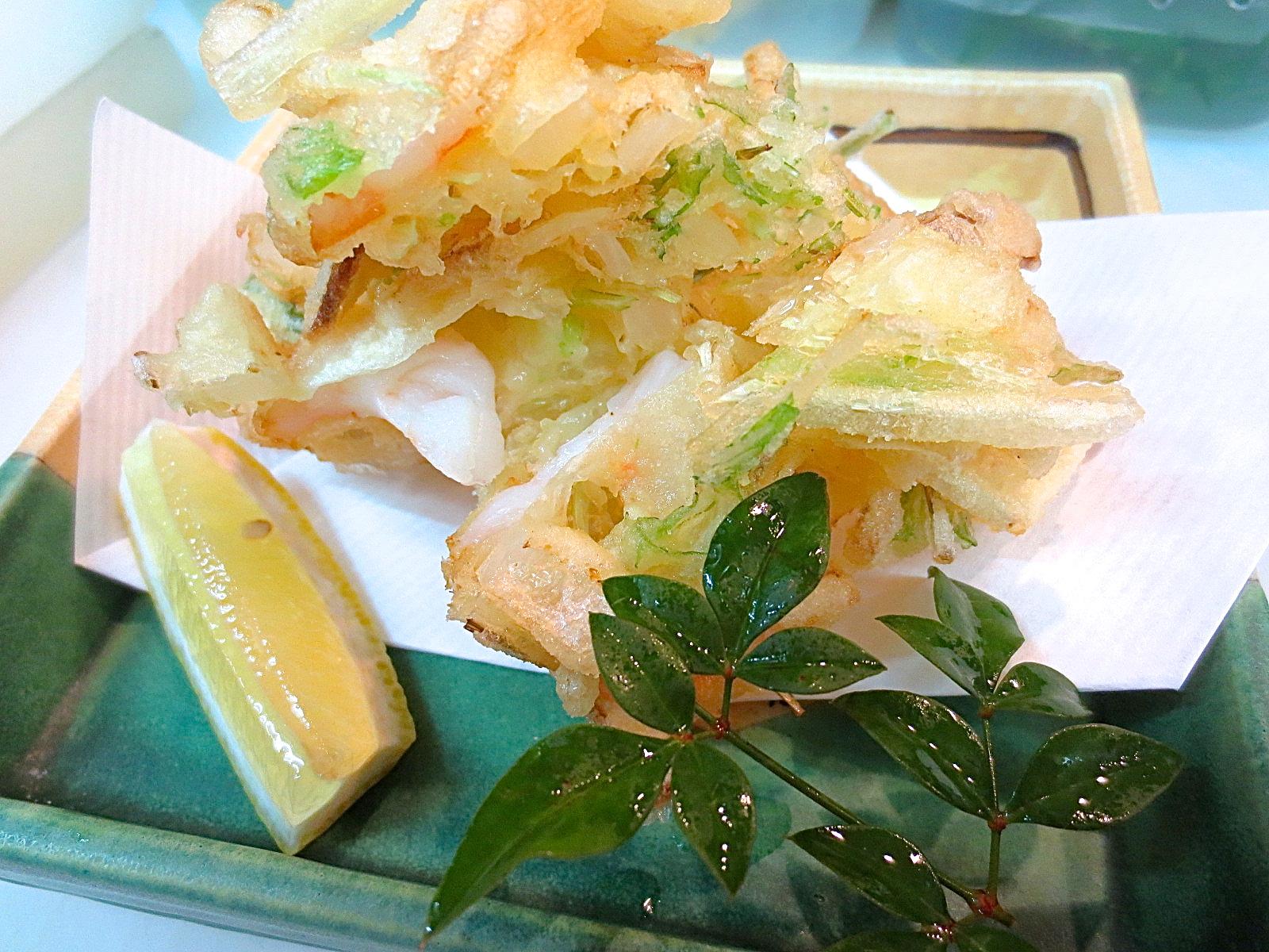 海老 玉葱 水菜かき揚げ