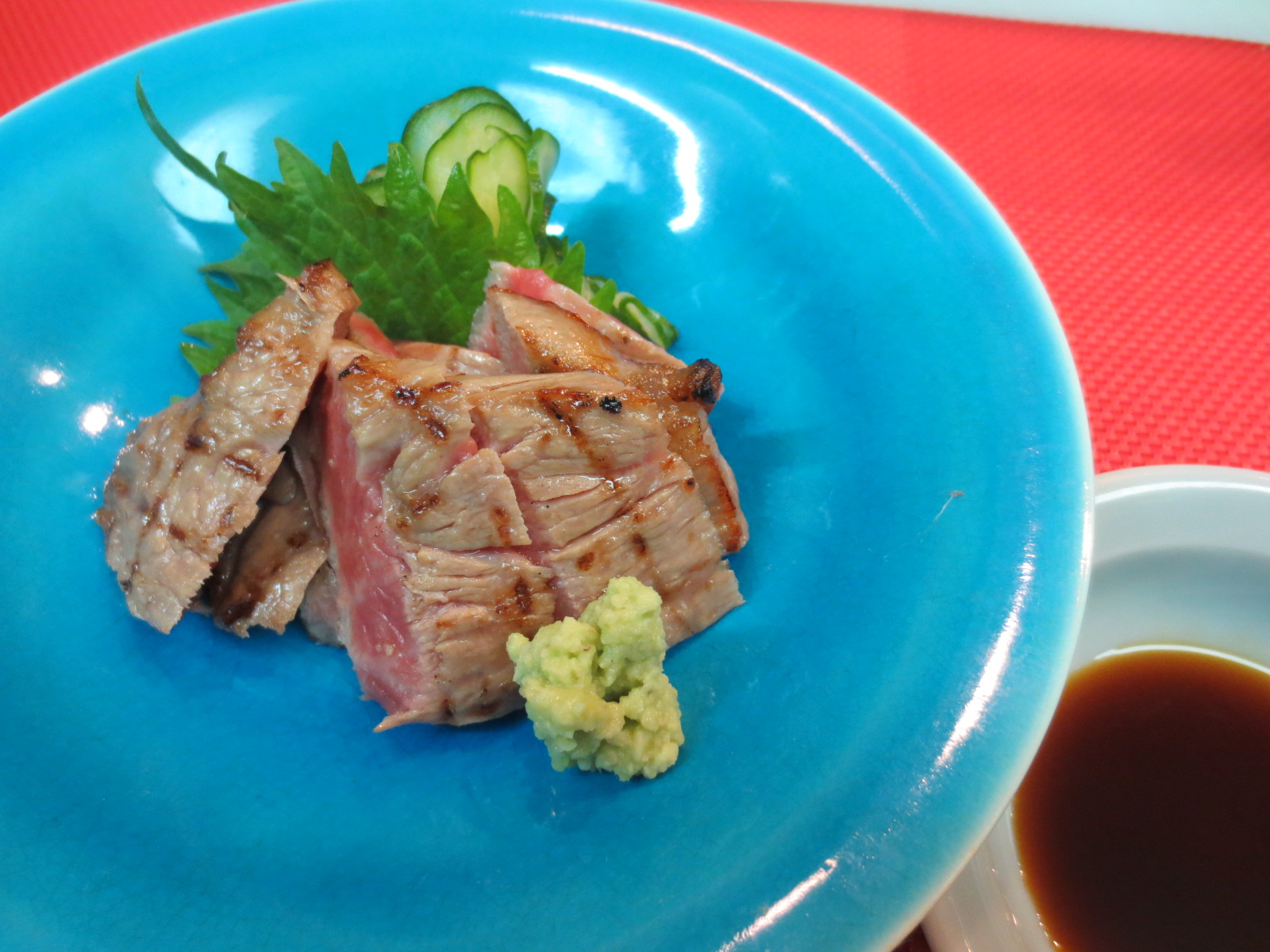 炙り牛ロース山葵醤油