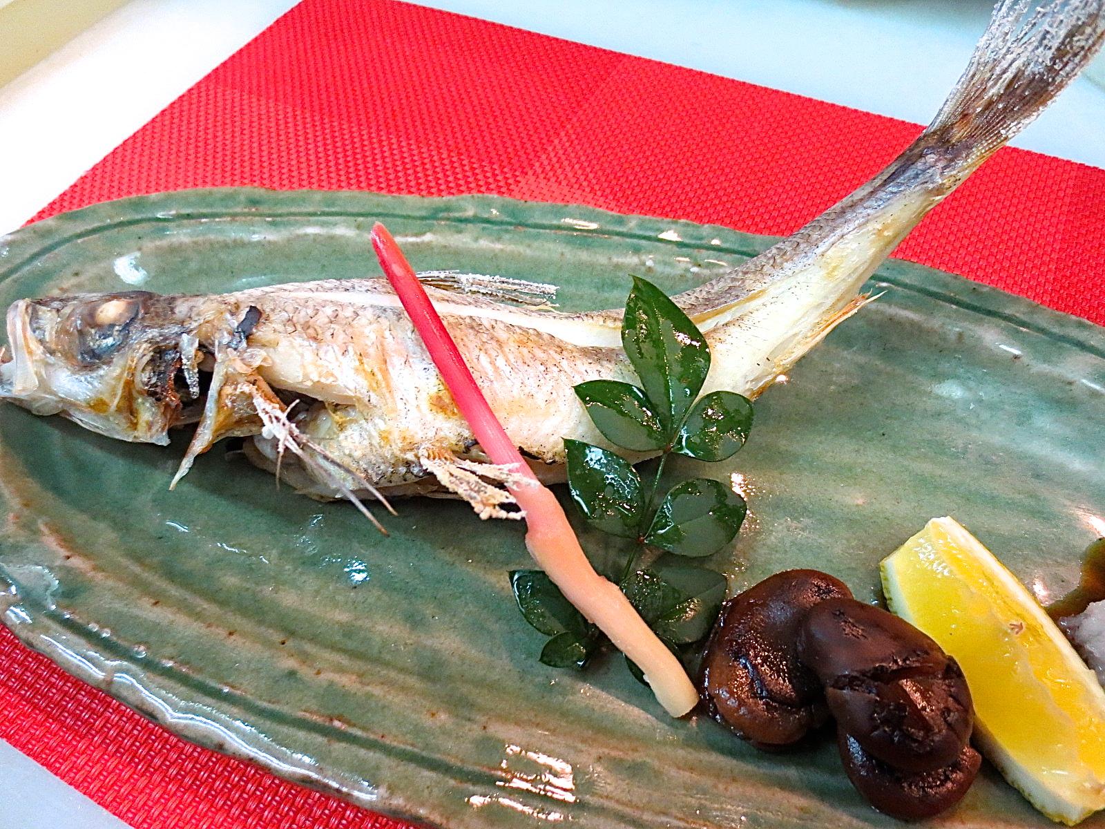 めひかり塩焼(深海魚)