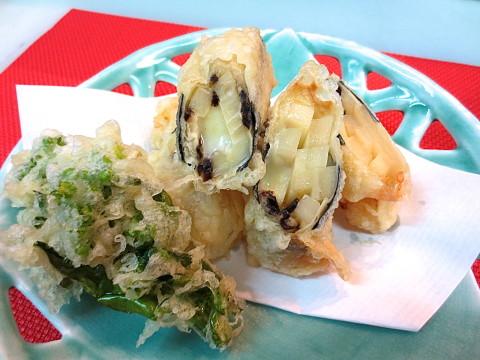 竹の子 チーズ湯葉巻き
