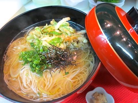 春野菜かき揚げ入り煮麺