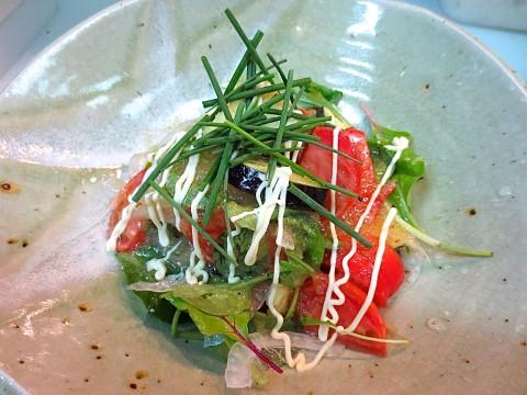 水茄子 フルーツトマトサラダ