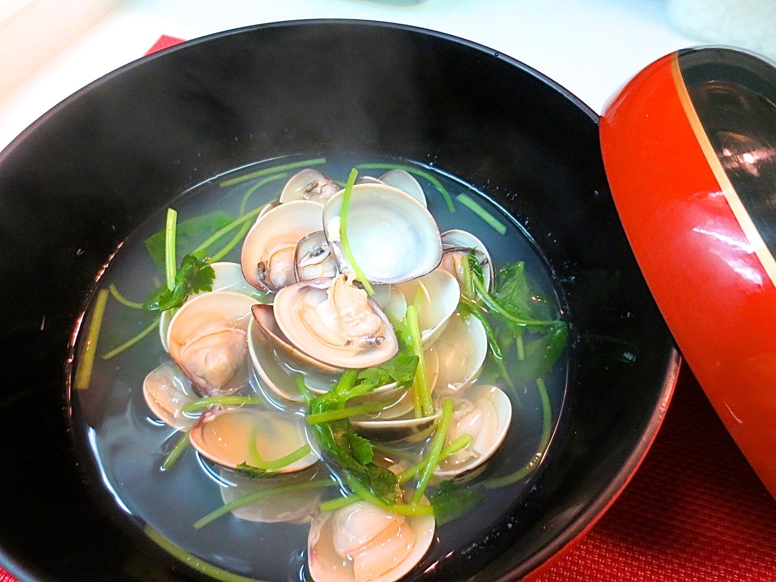 ハマグリ酒蒸し(千葉県産)