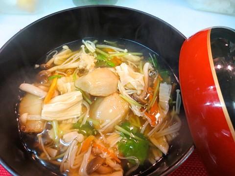 海老芋湯葉入り野菜あんかけ
