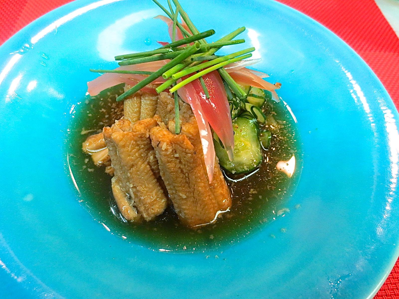煮穴子と胡瓜生姜酢