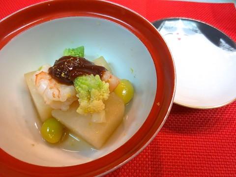 かぶらと海老煮(柚味噌)