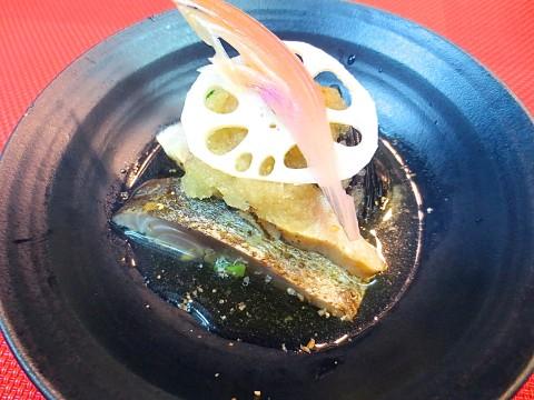炙りしめ鯖酢味噌