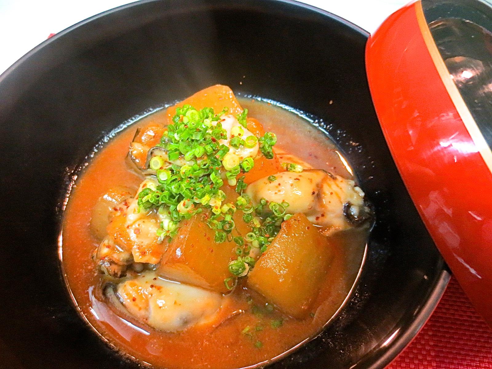 カキと大根味噌煮