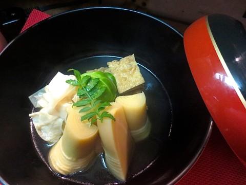 竹の子、湯葉、絹揚げ煮合わせ