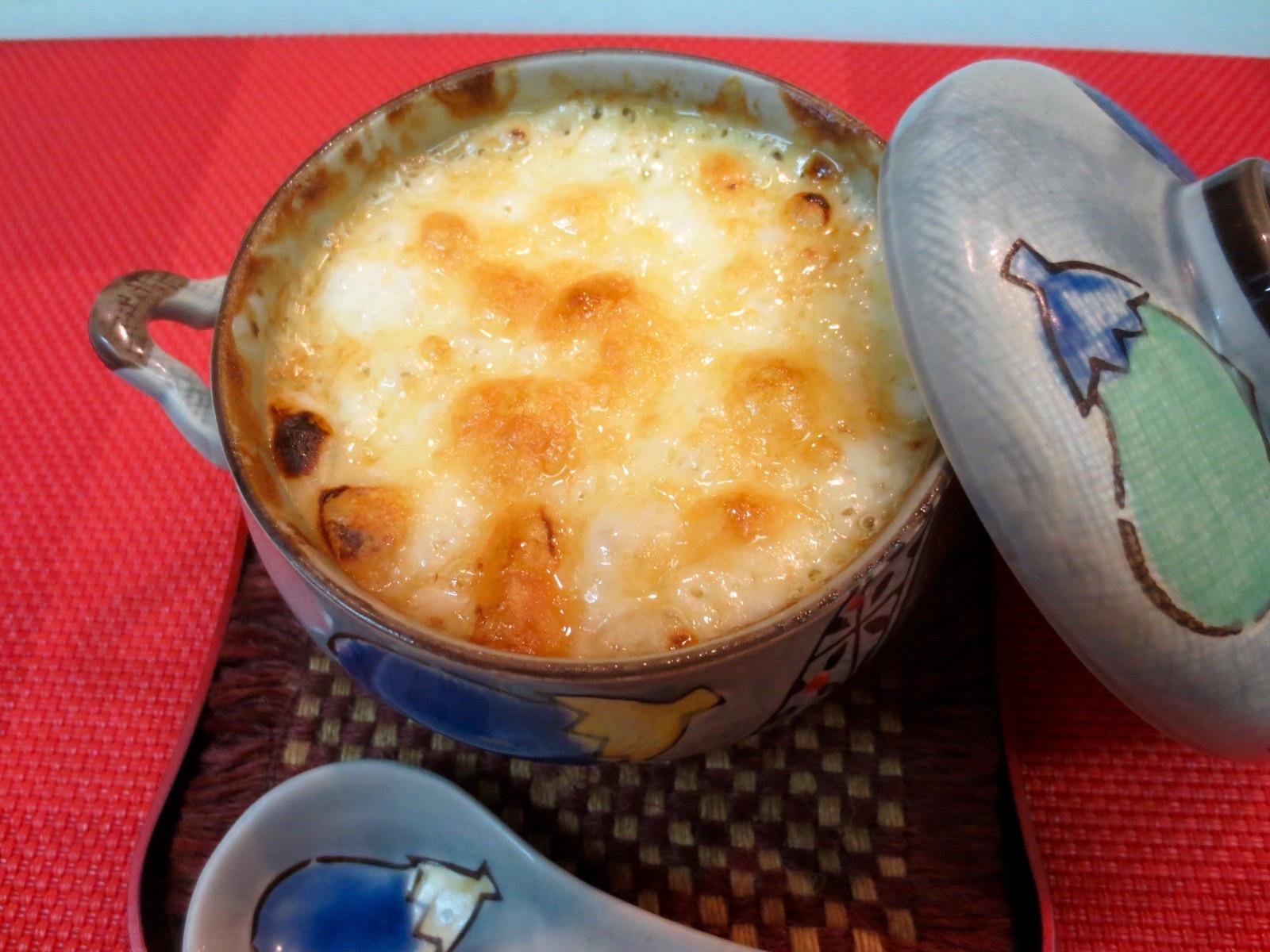 茄子とアスパラ味噌グラタン