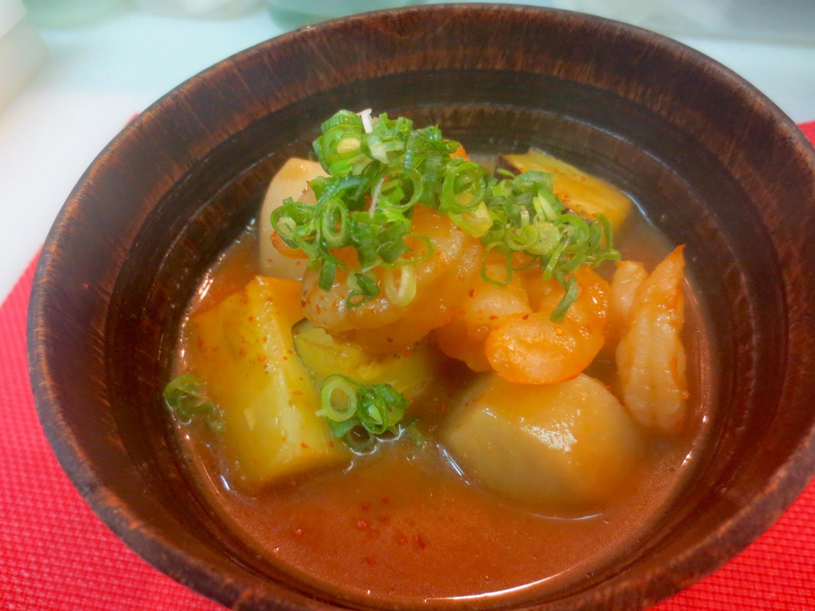 小芋 茄子 海老味噌煮