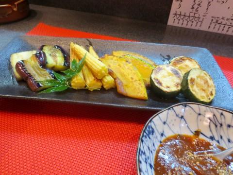 焼き夏野菜(ピリ辛味噌)